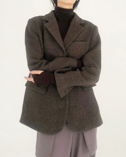 twill wool jacket