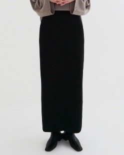 easy long knit skirt