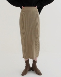 golgi banding knit skirt (4color)