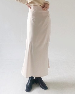 satin flare maxi skirt (2color)