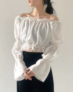 mercy lace blouse (2color)