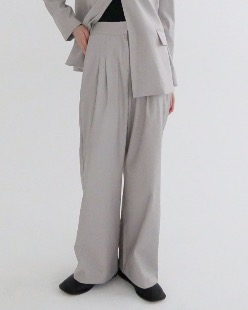 selly pintuck slacks pants (2color)