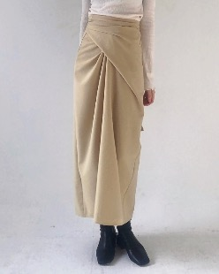 wearable wrap skirt, beige
