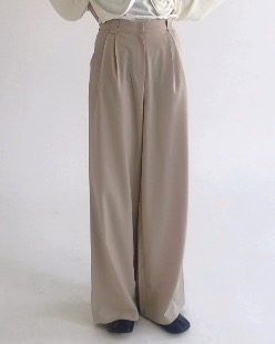 natural pintuck pants (3color)