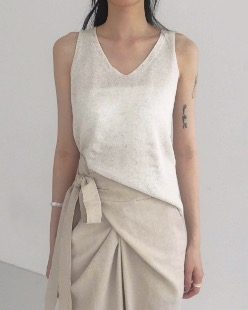 flat knit sleeveless (3color)
