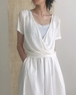 natural robe tee (2color)