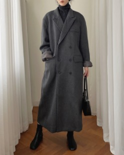 maxi over double button coat (3color)