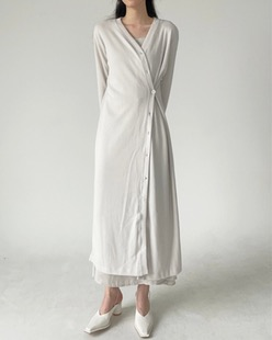 two way wrap long cardigan (2color)