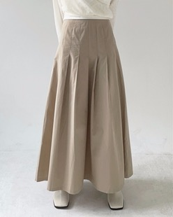 maxi cotton skirt (2color)