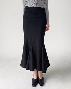 mermaid maxi skirt (2color)