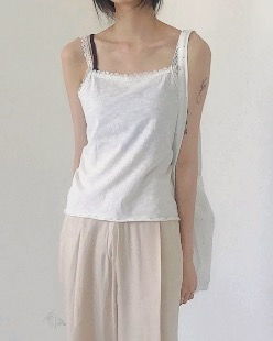 lace sleeveless (2color)