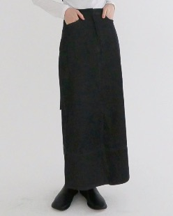 selvedge denim maxi skirt