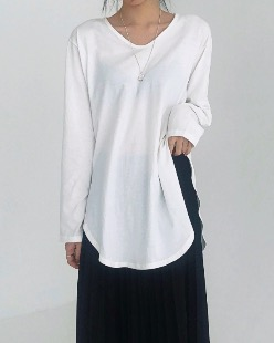 layerd loose fit tee (3color)
